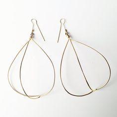Open Cage unique geometrical earrings in gilt by LauraEssayie