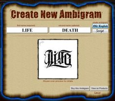 Free Ambigram Tattoos Generator - Are you looking for ambigram tattoo generator and create new Ambigram then follow this image and get the idea about ambigram generator, ambigram tattoos, ambigram maker, ambigram generator free, ambigram tattoo generator and ambigram creator. http://www.tattooideasart.com/vector-tattoos/ambigram-tattoo-generator-free/