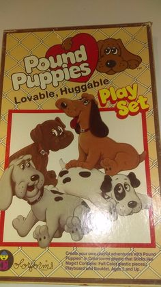 Vintage Pound Puppies Colorform Playset in Toys & Hobbies, Classic Toys, Colorforms   eBay
