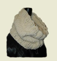 Chunky Scarf Cowl Neck Warmer Handmade Knit in by 2SistersHandmade