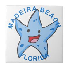 Florida - Madeira Beach Ceramic Tile - summer gifts season diy template ideas