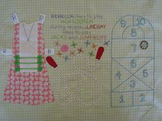 dream quilt create: Paperdoll blocks, continued...