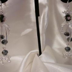 Black and silver chandelier earrings. at the Shopping Mall, $15.00