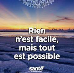 #rien #facile #tout #possible #citation #ciel #mer