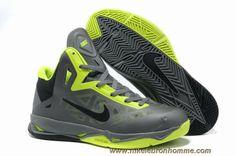 promo code 41ba7 65031 Nouveau 536845-003 Nike Zoom Hyperchaos X Cool Gris Vert Noir Kevin Durant  Basketball Shoes