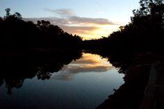 Sunset on the Murray.