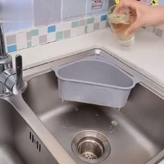 Sink Drain Shelf & Kitchen Waste Filter – All For Decoration Diy Kitchen Storage, Kitchen Cabinet Design, Kitchen Shelves, Kitchen Organization, Cool Kitchen Gadgets, Home Gadgets, Kitchen Hacks, Cool Kitchens, Home Decor Hooks