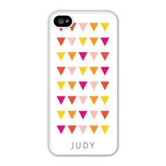 An assortment of vibrant triangles gives the Play Banner iPhone case a fun geometric look.