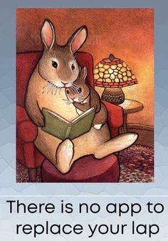 Story Time illustration by toadbriar Bunny Art, Bunny Book, Sign Printing, Children's Book Illustration, I Love Books, Bunny Rabbit, Rabbit Art, Story Time, Childrens Books