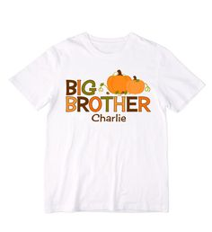 Personalized Big Brother Pumpkins Shirt or by siblingspecialtees