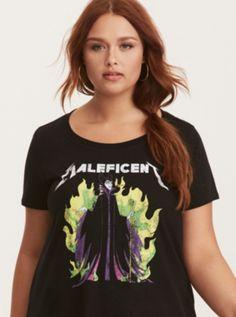 Disney Maleficent Crew Neck Tee in Black