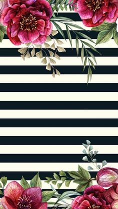 Roses and black and white stripes wallpaper print art Flower Backgrounds, Phone Backgrounds, Wallpaper Backgrounds, Screen Wallpaper, Flower Wallpaper, Cellphone Wallpaper, Iphone Wallpaper, Invitation Background, Flower Frame