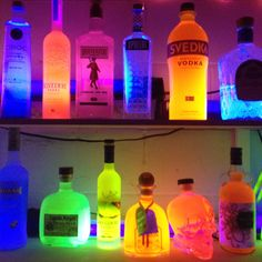 Neon PARTAAAY bottles