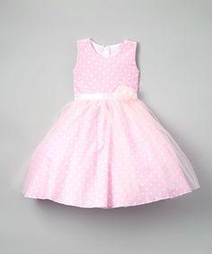 Pink Polka Dot A-Line Dress - Toddler & Girls