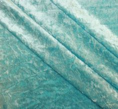 Crushed Panne Velour Turquoise Width 58/60""