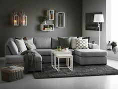 30 Affordable Apartment Living Room Design Ideas On A Budget - Knowing how to design a better living room can be cost-effective in the long run. When you understand the trick of living room design, the amount of money you can save is incredible. There wi Living Room Grey, Living Room Carpet, Living Room Furniture, Home Furniture, Living Room Decor, Living Rooms, Furniture Ideas, Living Spaces, Cheap Sofas