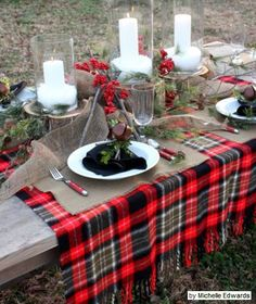 Try using a flannel blanket as a tablecloth.
