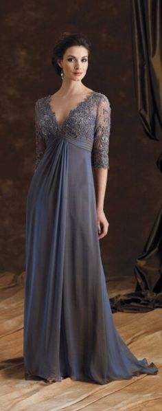 elegant mother of bride dress