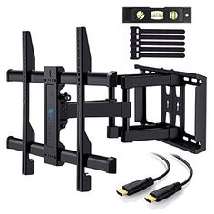 Discounted TV Wall Mount Bracket Full Motion Dual Articulating Arm For Most  37 70 Inch