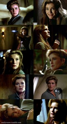 The many awesome faces of Janeway (and from one of my favorite episodes too! Love the one on the top right)