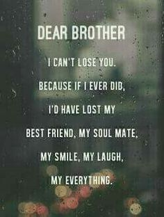 EXCLUSIVE Brother And Sister Quotes: Just AMAZING! - BayArt brother sister sayings<br> POWERFUL selection of brother and sister quotes perfectly sum up your unique and special relationship. Some sayings are funny or deep, but all are truth. Love My Brother Quotes, Missing My Brother, Brother And Sister Relationship, Brother And Sister Love, Sister Sayings, Brother Sister Love Quotes, Losing A Sister Quotes, Quotes About Brothers, Miss My Family Quotes