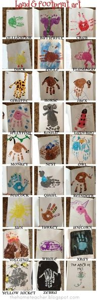 Animal Handprint ABCs