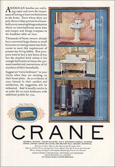 1926 Crane Ad in American Builder by American Vintage Home, via Flickr