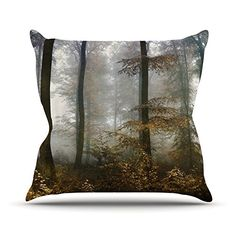 KESS InHouse IL2080AOP03 18 x 18-Inch 'Iris Lehnhardt Forest Mystics Brown Grey' Outdoor Throw Cushion - Multi-Colour * Learn more by visiting the image link. #GardenFurnitureandAccessories