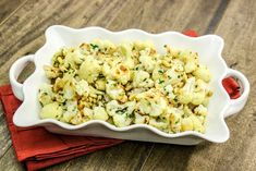Zesty Roasted Cauliflower---Olga's flavor factory recipes