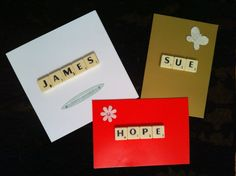 Scrabble tile personalised greeting cards birthday special occasion by Beaucrafts7369 on Etsy