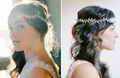 Brautmode-Schmuck für offene Haare-Haarreifen und Haarband mit Steinen