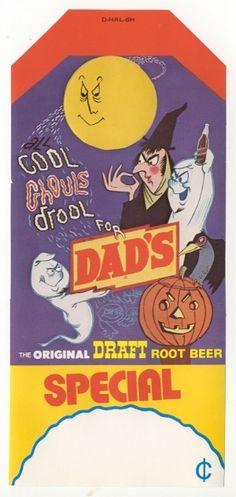 Vintage Dad's Root Beer Halloween ad