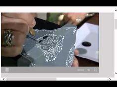 Profesora de pintura decorativa Lorena Valdivia nos enseña la técnica lino y encaje