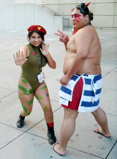 Cammy and E-Honda (from Street Fighter)