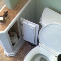 Toilet paper storage:)