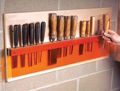 See Through Chisel Holder - American Woodworker