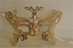 Child Sized Gold Venetian Butterfly Mask