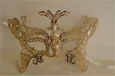 Child Sized Gold Venetian Butterfly Mask