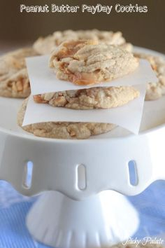 Peanut Butter Pay Day Cookies! Peanuts, caramel and chewy delicious!