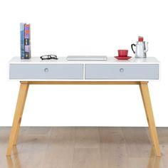 Modern desks in light brown
