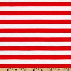 Designer Stretch Rayon Jersey Knit Stripes Candy Cane