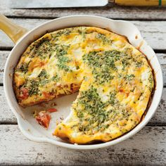 Smoked Salmon Frittata with Goat Cheese and Chives (recipe)