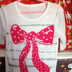 White Top with Pink Ribbon 4-6 yrs S$15.90