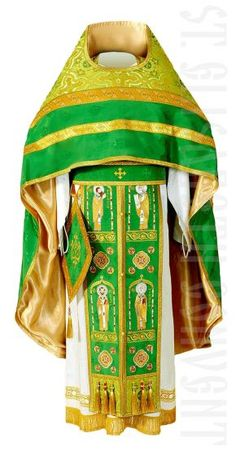 SH-11-191-1 Russian Style Priest Vestment.  $730.00. #CatalogOfGoodDeeds #vestments #deacons #OrthodoxVestments #ordervestments #buyvestments #subdeacon #orarion #cuffs #sticharion #protodeacon #archdeacon #klobuk #skufia #cassocks #bishop  #sewingworkshop #cassocks #priest  #bookmarks #liturgicalset #churchvestment #velvetcase #instock #headwear