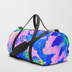 Buy Tropical Adventure - Neon Blue, Pink and Green #tropical #homedecor Duffle Bag by dominiquevari. Worldwide shipping available at Society6.com. Just one of millions of high quality products available. #s6gtp