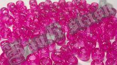 100 hot PINK GLITTER/SPARKLE pony beads by KandiStash on Etsy, $2.00