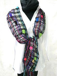 handmade Schal handgeklöppelte Spitze aus Wolle von UliBaysie, €119.90