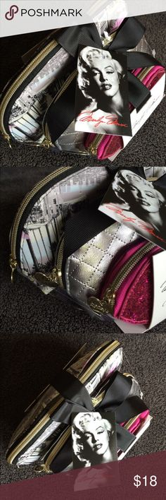 Cosmetic Bag 3-piece set NWT Marylyn Monroe stylish cosmetic bags . Different sizes great travel bags Other