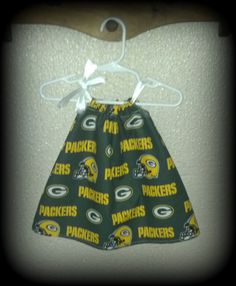 Greenbay Packers Dress love love if I ever have a girl!