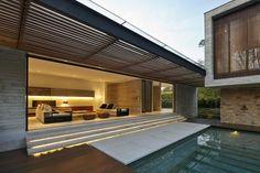 Me gusto el techo de la terraza y las texturas en las paredes